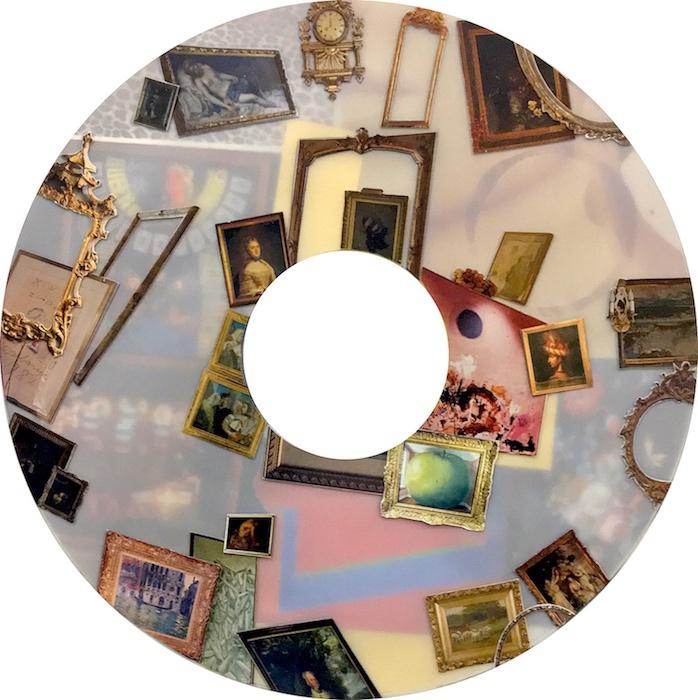 "Sciopticon (Annulus) V, 2016, Hand-cut collage on mylar, 22\""x22\"""